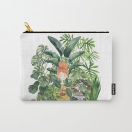 Plant Lady Watercolor Illustration Carry-All Pouch