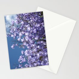 Purple Blossom Stationery Cards