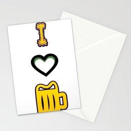 i love - I love beer Stationery Cards
