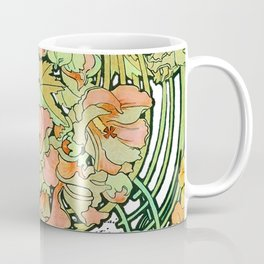Romance in Paris, Art Nouveau Floral Nostalgia Coffee Mug