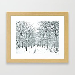 winter symphony Framed Art Print