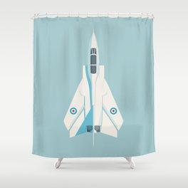 Tornado Swing Wing Jet - Sky Shower Curtain