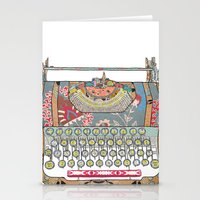 write Stationery Cards featuring I DON'T KNOW WHAT TO WRITE YOU by Bianca Green