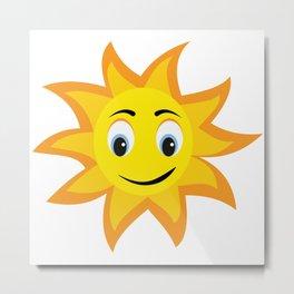 Happy Sun Morning Vibes - Fresh & Fun - Pop Style Metal Print