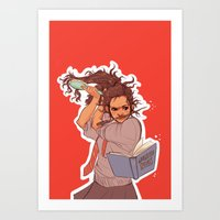 hermione Art Prints featuring Hermione (red) by batcii