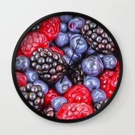 Berries Wall Clock