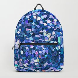 Dazzling Blue Sequences (Color) Backpack