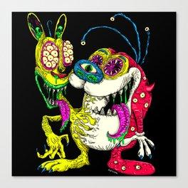 Monster Friends Canvas Print