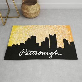 Pittsburgh Mandala Sunset Rug