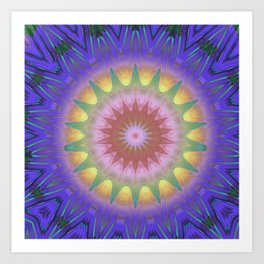 Royal Purple Ethereal Glow Art Print