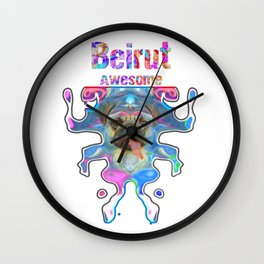 Beirut Awesome Pug Gift Funny Dog Ballerina In Space Wall Clock