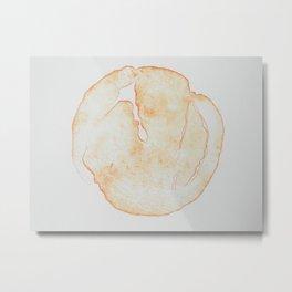 Esfera Anaranjado Metal Print