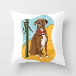 Boxer Dog Art Illustration Throw Pillow