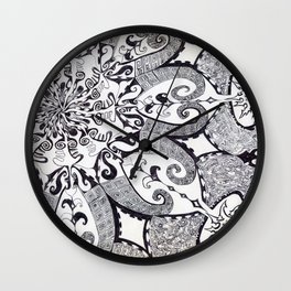 ' No System In Chaoz ' By: Matthew Crispell Wall Clock