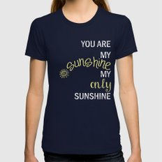 YOU ARE MY SUNSHINE MEDIUM Womens Fitted Tee Navy