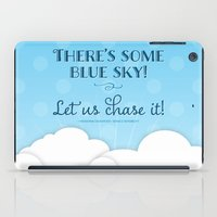 jane austen iPad Cases featuring Jane Austen Sense & Sensibility Blue Sky Print by Noonday Design