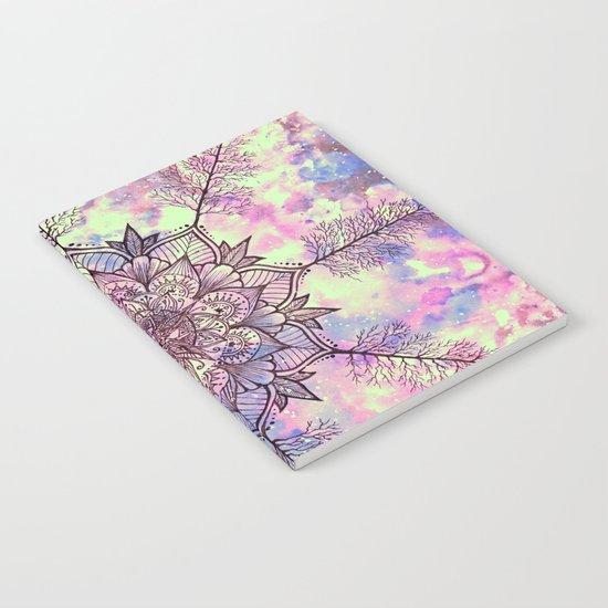 Galaxy Tree Mandala Notebook