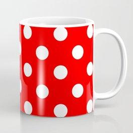 POLKA DOT DESIGN (WHITE-RED) Coffee Mug