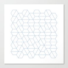 #329 Hexagon fields – Geometry Daily Canvas Print