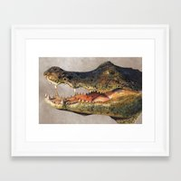 crocodile Framed Art Prints featuring Crocodile by Anna Milousheva