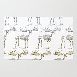 Moose skeleton - pattern Rug