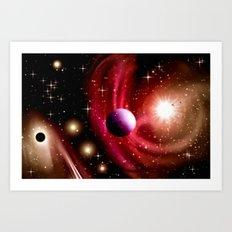 Stardust and solar wind. Art Print