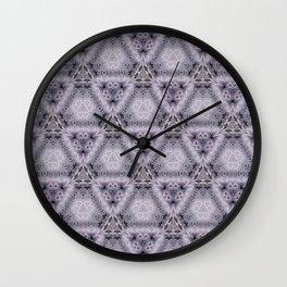 Pale Purple Pyramids Wall Clock
