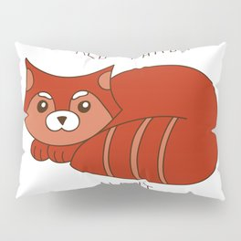 Funny little abstract red panda Pillow Sham