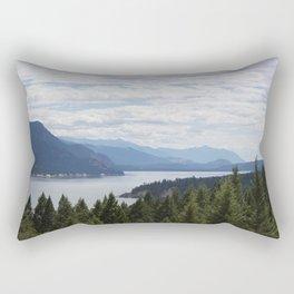 Rocky Mountain lake Rectangular Pillow