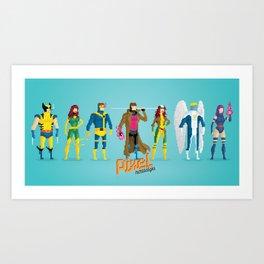 Pixel Mutants Art Print