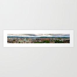 Panoramic of Edinburgh Art Print