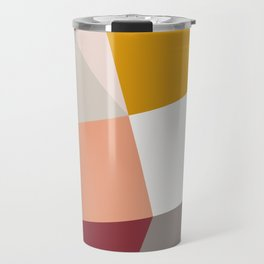 Abstract Geometric 27 Red Travel Mug