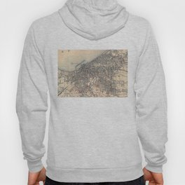 Vintage Map of Cleveland (1904)  Hoody