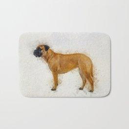 Bullmastiff Bath Mat