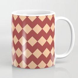 Maroon Peach Moroccan Tile Pattern Coffee Mug