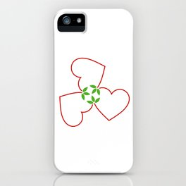 Red hearts for valentines day and love iPhone Case