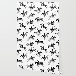Horse Jumping Wallpaper For Any Decor Style Society6