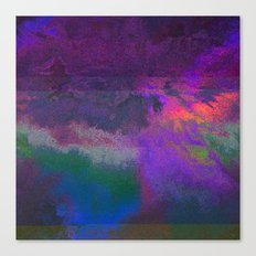 66-63-18 (Universe Rising Glitch) Canvas Print