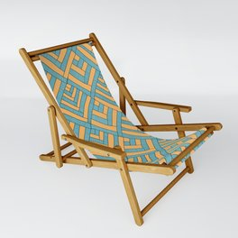 Geometric pattern Modern Sling Chair