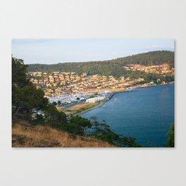 Anacortes Island Marina on Burrows Bay Canvas Print