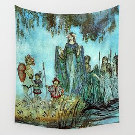 Lady of the Fey in the Water  Wall Tapestry