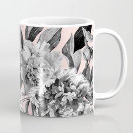 Floral pink - black & white Coffee Mug