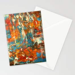 An Oasis In A Desert Abstract Painting Stationery Cards