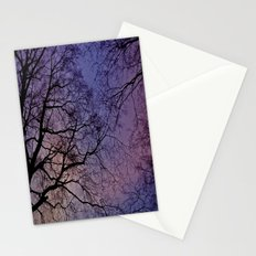 Violet Skies Stationery Cards
