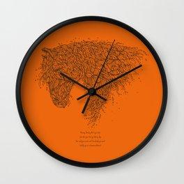 Horsey Orange Wall Clock