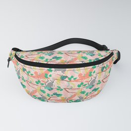 Lemurs in Pink Jungle Fanny Pack