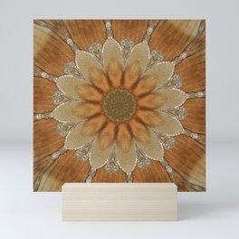 Mandala golden blossom Mini Art Print
