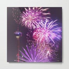 fireworks in san antonio - texas Metal Print