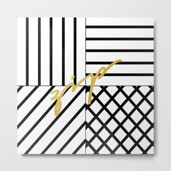 Zip Metal Print