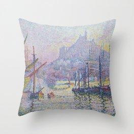 Paul Signac - Notre Dame De La Garde Throw Pillow